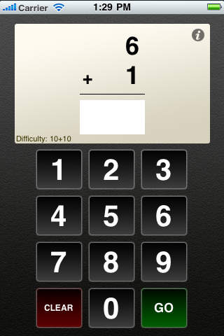 Flashcards To Go: Addition iPhone Screenshot 2