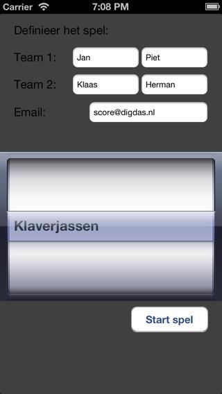Score applicatie iPhone Screenshot 1