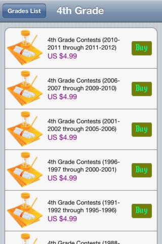 Math League Contests (For Instructor) iPhone Screenshot 4