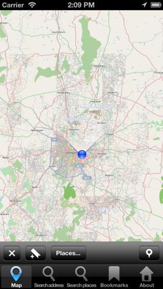 Offline Map Bangalore India: City Navigator Maps