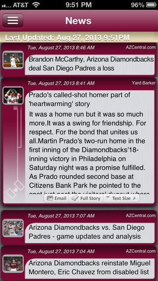 Arizona Pro Baseball Live iPhone Screenshot 4