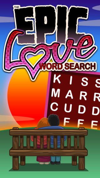 Epic Love Word Search - giant wordsearch puzzle for Valentine's Day