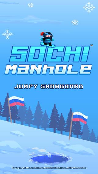 Jumpy Snowboard Sochi Manhole