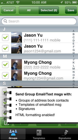 Groumer - Group Text Email Custom Templates Signat