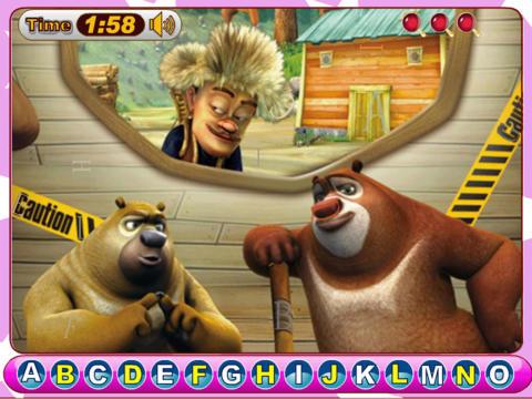 免費遊戲App|熊出没找字母|阿達玩APP