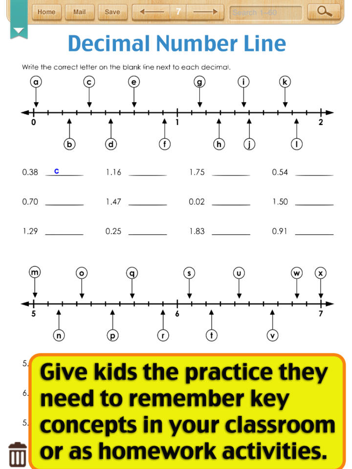 Decimal Worksheets Fifth Grade – Decimals on a Number Line Worksheet