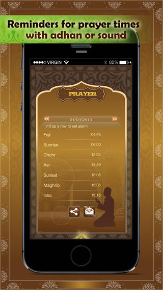 Al Qur'an - Prayer times, Qibla, Islamic Calendar
