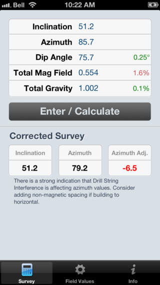 AZcorr – Drill String Magnetic Interference Survey Calculator
