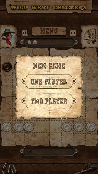 Wild West Checkers Lite iPhone Screenshot 3