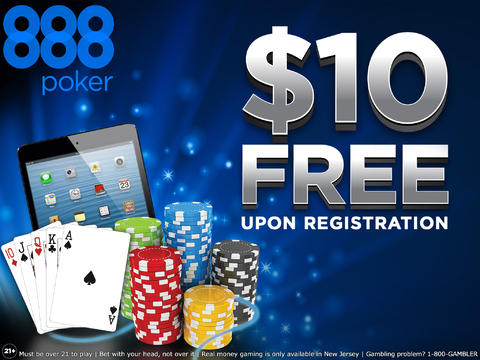 Play Texas Hold`em Poker on the go by 888poker NJ