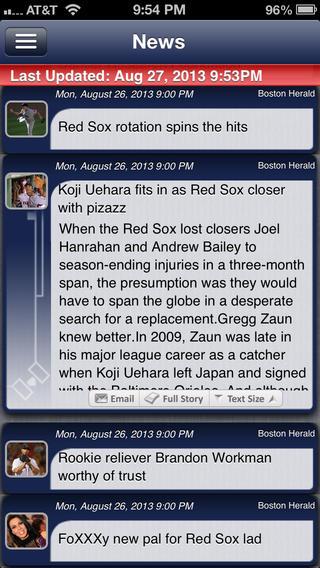 Boston Pro Baseball Live iPhone Screenshot 4
