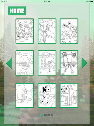 Coloring with Minecraft  Screenshot