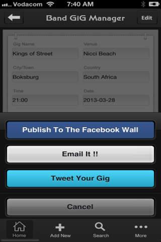 Band GIG MANAGER screenshot 2