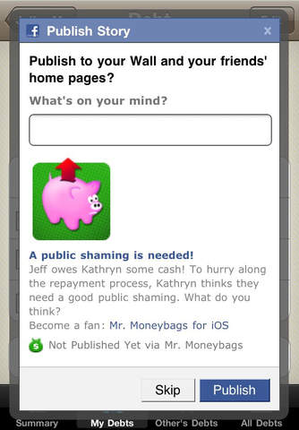 Mr. Moneybags IOU Lite iPhone Screenshot 5