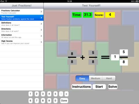 Just Fractions! iPad Screenshot 2