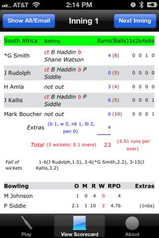 inningZ - Cricket Scorer Lite