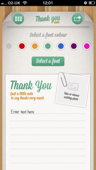 Screenshots for Thank You Note app - Custom eCard thankyou cards to send via mail and social media