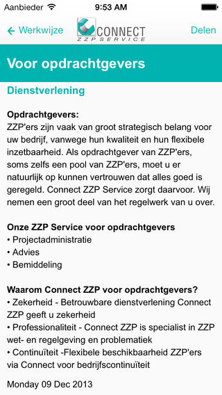 Connect ZZP Service