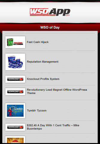 WsoApp  -Track Internet Marketing Product Launches