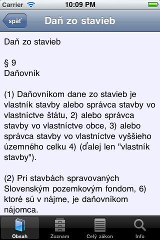 Daňové zákony screenshot 2