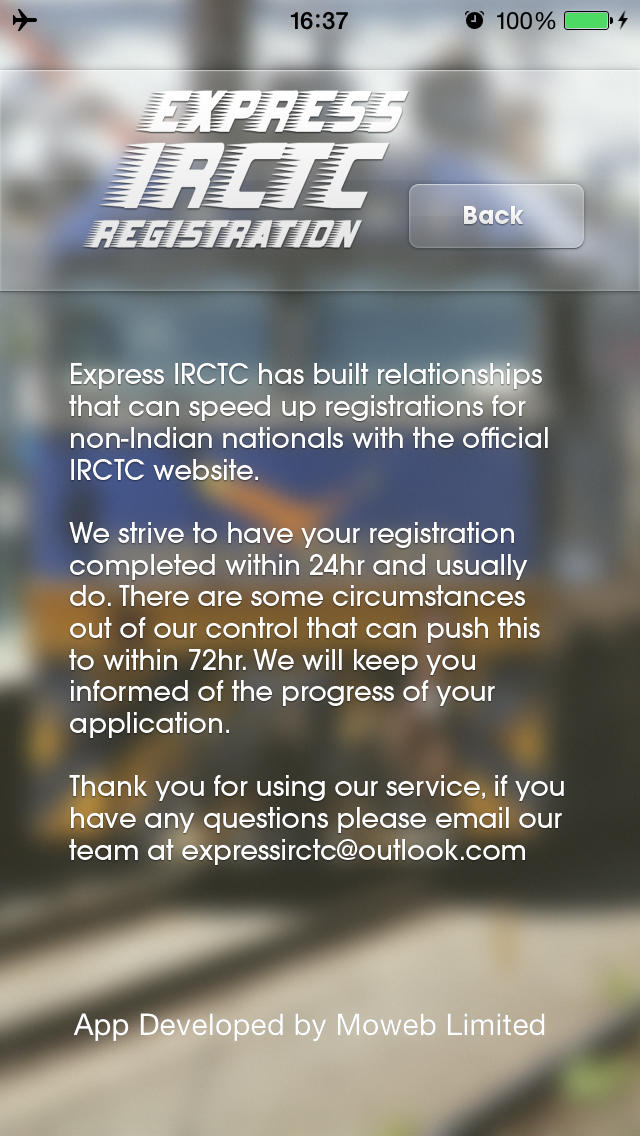 Express IRCTC  Screenshot