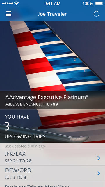 American Airlines - iPhone Mobile Analytics and App Store Data