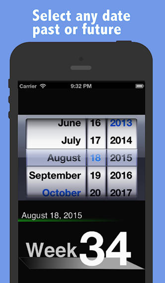 Quick Week Number - Free Week Calendar App