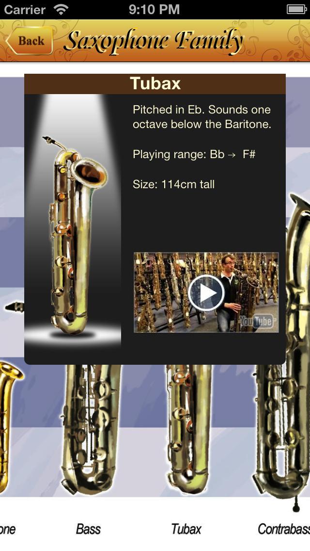Saxophone All-in-one screenshot