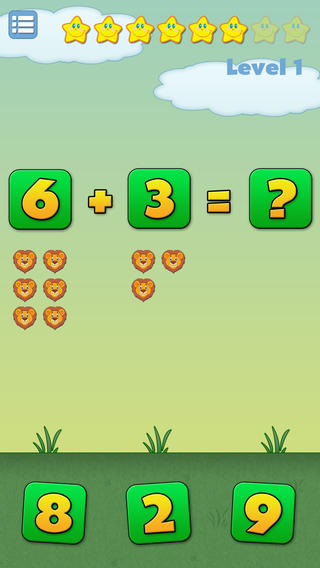 Math Joy - Kids Learn Numbers, Addition and Subtraction iPhone Screenshot 1
