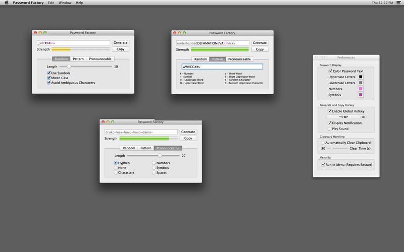 Password Factory Screenshot - 1