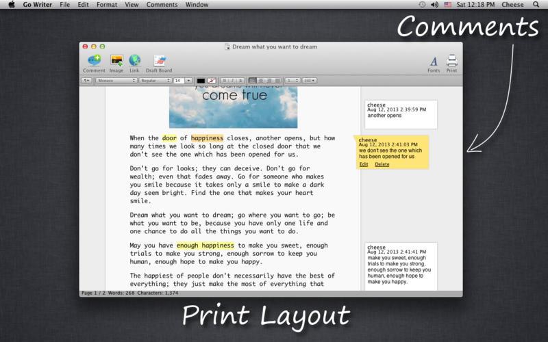 Go Writer Screenshot - 3