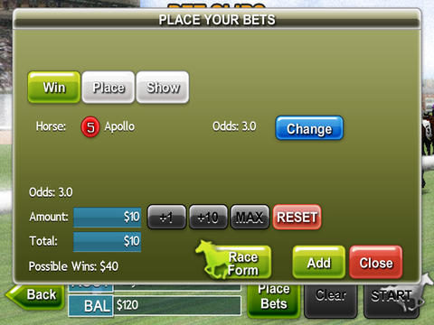 Virtual Horse Racing 3D HD FREE iPad Screenshot 5