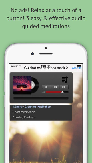 Quick Calming Meditations pack Guided