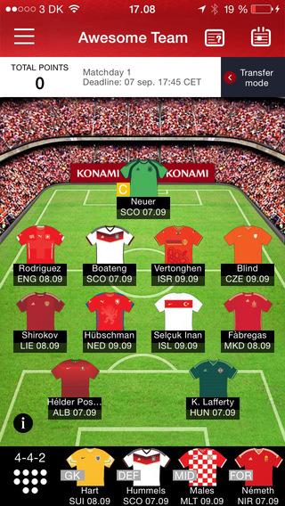 European Qualifiers Fantasy Football