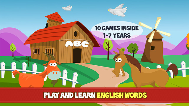 Farm Adventure for Kids - Educational game with animals and letters for children toddlers babies boy