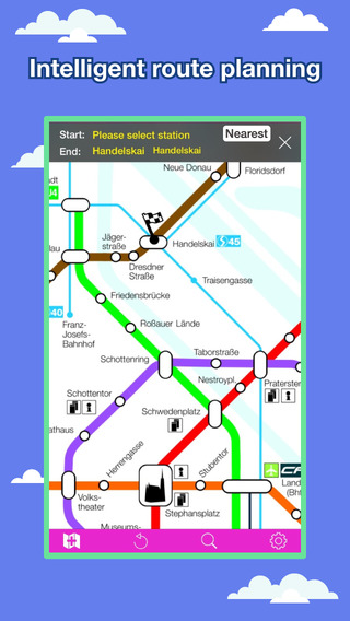 Vienna Transport Map - U-Bahn Map and Route Planner