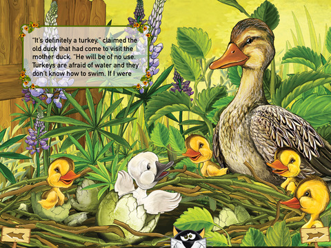 The Ugly Duckling Interactive Danish Fairy Tale by H.C. Andersen iPad Screenshot 2