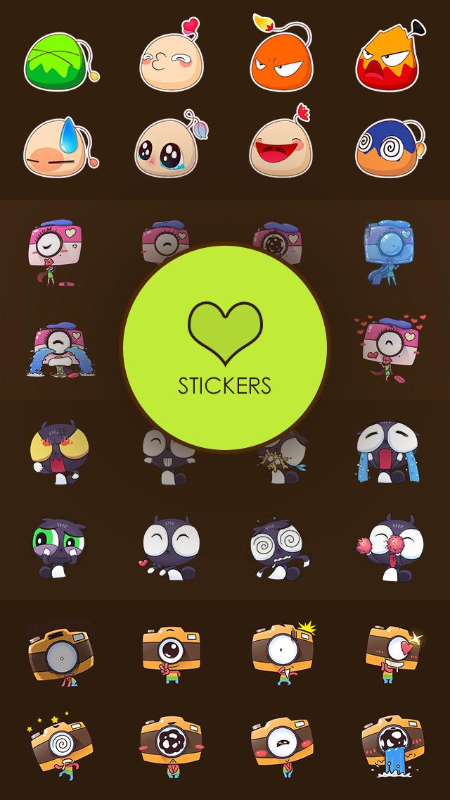 美图神器 - 快速添加文字,表情,标题及贴画,贴纸和个性化表情到图像