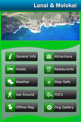 Malokai & Lanai Island Offline Map Travel Guide screenshot 1