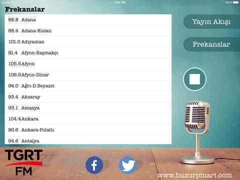 Tgrt FM iPad Screenshot 2