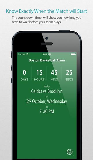 Boston Basketball Alarm Pro