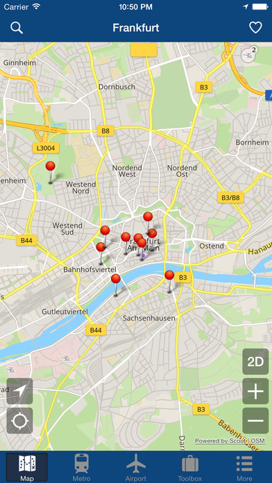 frankfurt offline map city metro airport apppicker. Black Bedroom Furniture Sets. Home Design Ideas