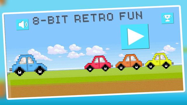 Jump Car Retro Pro : 8bit Arcade Challenge