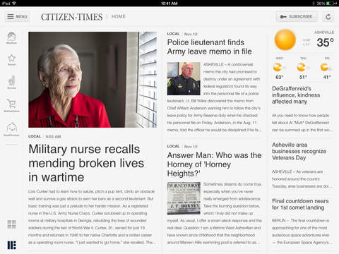 Asheville Citizen-Times for iPad