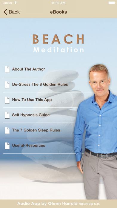Beach Meditation by Glenn Harrold: Self-Hypnosis Relaxation for Sleep iPhone Screenshot 4