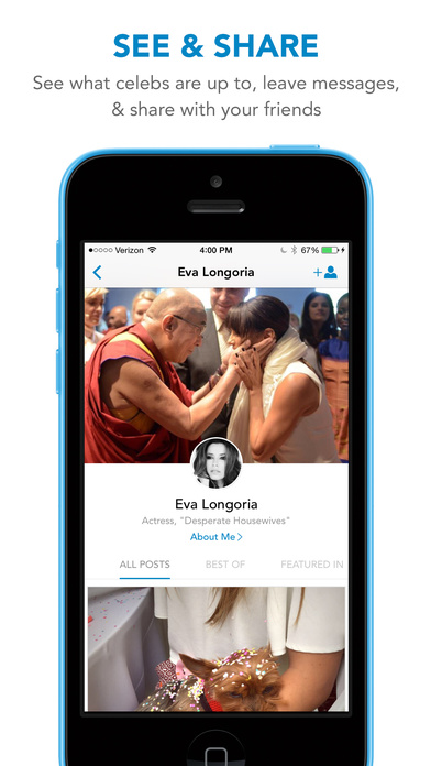 WhoSay - A social magazine by celebrities screenshot