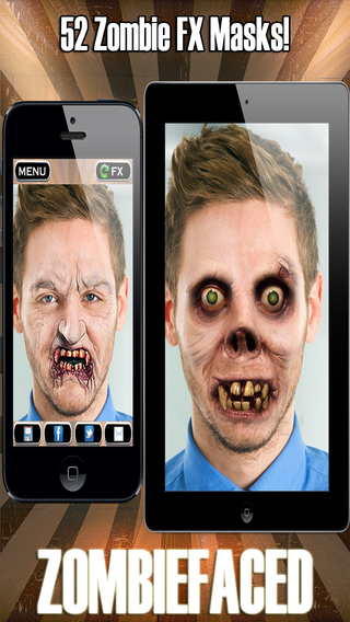 ZombieFaced Pro Edition -The Scary Zombie Horror FX Face Booth