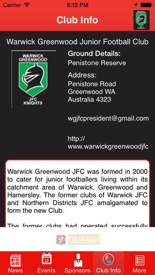Warwick Greenwood Junior Football Club