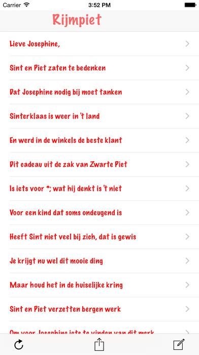 Rijmpiet: sinterklaas en pakjesavond gedichten generator iPhone Screenshot 1