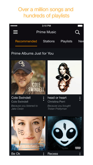 Amazon Music with Prime Music